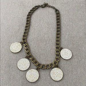 BaubleBar circle coin necklace